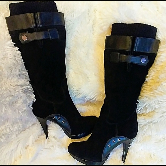 GUESS Black knee boot
